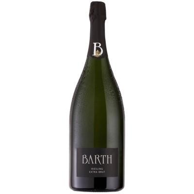 Barth Wein  und Sektgut  Magnum Riesling Sekt Extra Brut 1,5L im schwarzen Geschenkkarton
