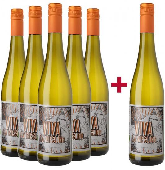 5+1 Paket Viva La Riesling Spätlese BIO - Weingut Hamm