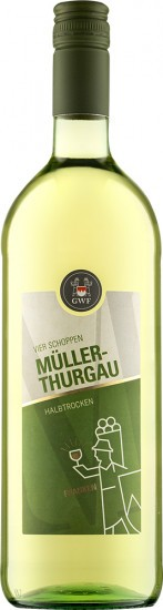2020 VIER SCHOPPEN Müller-Thurgau Qualitätswein halbtrocken 1,0 L - Winzergemeinschaft Franken eG
