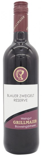 2018 Blauer Zweigelt Reserve trocken - Weingut Grillmaier Bioweingärtnerei