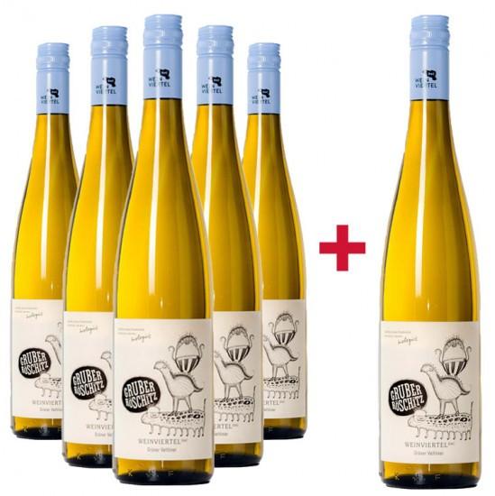 5+1 Paket Weinviertel DAC Grüner Veltliner - Weingut Gruber Röschitz
