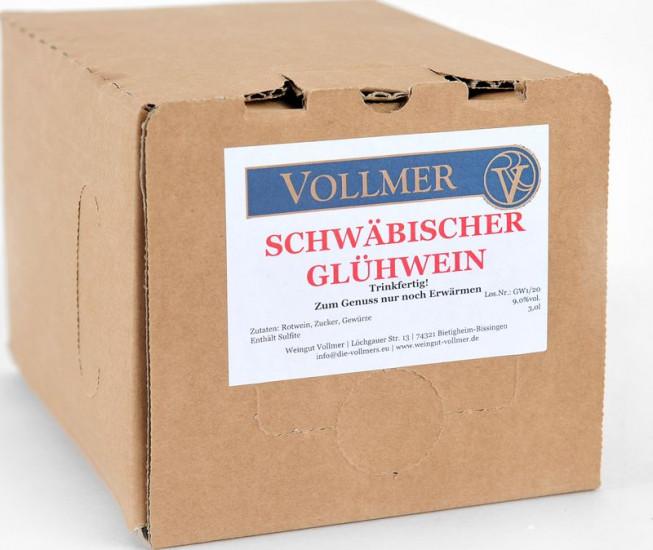 Schwäbischer Glühwein rot 3L Bag-in-Box Weinschlauch 3,0 L - Weingut Roland Vollmer