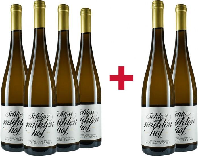 4+2 Paket Alzeyer Wartberg Riesling - Weingut Schlossmühlenhof