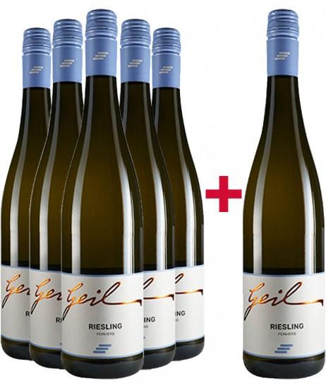 5+1 Riesling-Paket feinherb - Weingut Helmut Geil
