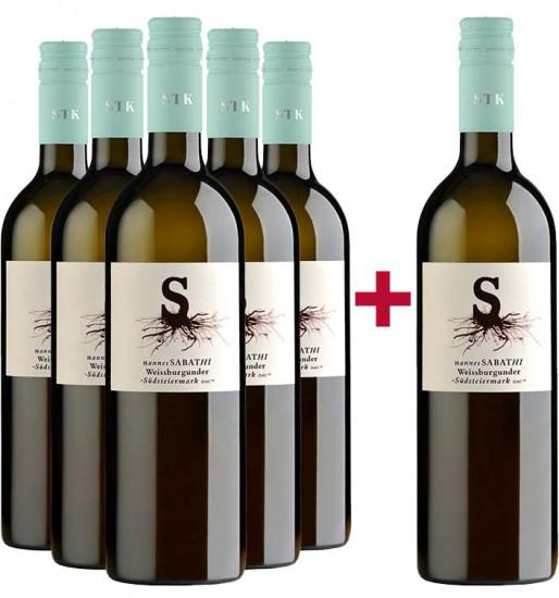 5+1 Weißburgunder Südsteiermark DAC Paket - Weingut Hannes Sabathi