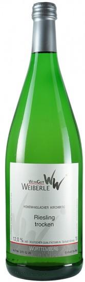 2019 Riesling trocken 1,0 L - WeinGut Weiberle