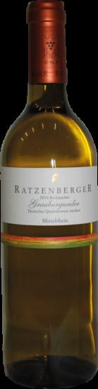2019 Ratzenberger Bacheracher Grauer Burgunder Trocken - Weingut Ratzenberger