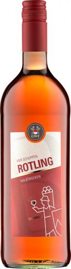 2020 VIER SCHOPPEN Rotling Qualitätswein halbtrocken 1,0 L - Winzergemeinschaft Franken eG