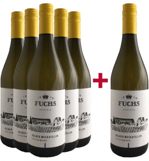 5+1 Gelber Muskateller Paket - Weingut Fuchs