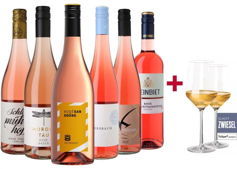 Rosé Entdecker-Paket inkl. Gläser