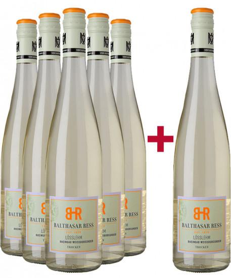 5+1 Paket Weißburgunder VDP.Gutswein  - Weingut Balthasar Ress