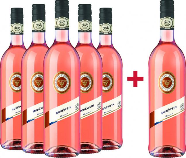 5+1 BIO Rosé halbtrocken Paket + Verkostungsvideo - Weingärtner Stromberg-Zabergäu