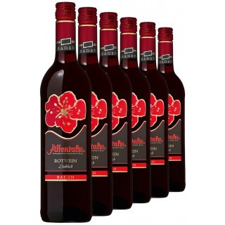 """2019 """"Blütenedition"""" Rotwein QbA (6 Flaschen) - Affentaler Winzer"""