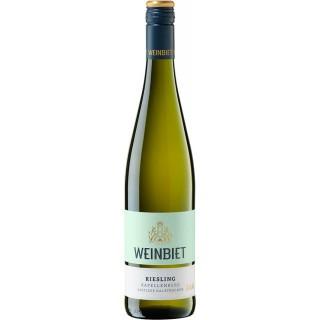 2018 Gimmeldinger Kapellenberg Riesling Spätlese halbtrocken - Weinbiet Manufaktur