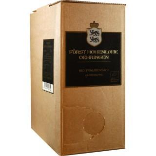 2018 Traubensaft Rot im praktischen 3L-Bag in the Box Weinschlauch BIO - Weingut Fürst Hohenlohe-Oehringen