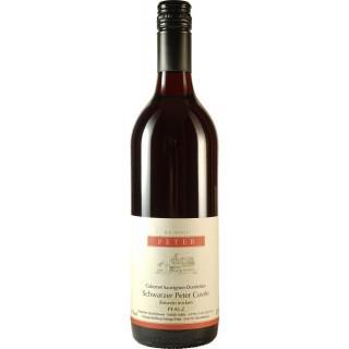 2016 Schwarzer Peter Cuvee Sauvignon Dornfelder Rotwein trocken - Weingut Peter