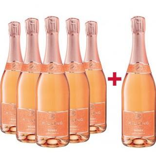 5+1 Paket Rosé Sekt trocken - Rilling Sekt