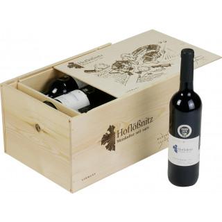 2016 Cabernet Rot 6er Holzkiste trocken Bio - Weingut Hoflößnitz