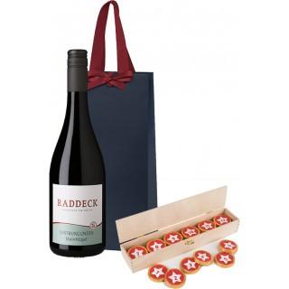 Schokoladen Adventskalender-Rotwein-Paket