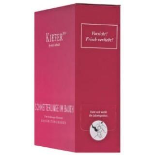 2018 Bag in Box Schmetterlinge im Bauch feinherb 3,0 L Weinschlauch - Weingut Friedrich Kiefer