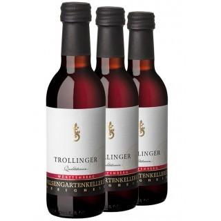 3x Trollinger QbA halbtrocken 0,25L (3 Flaschen) - Felsengartenkellerei Besigheim