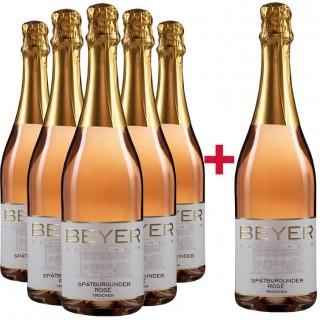5+1 Paket Spätburgunder Rosé Jahrgangssekt  - Weingut Johann P. Beyer