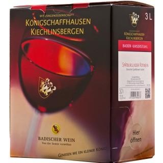 2014 Baden Spätburgunder Bag-In-Box Dt. QW 3L trocken Weinschlauch - Winzergenossenschaft Königschaffhausen-Kiechlinsbergen