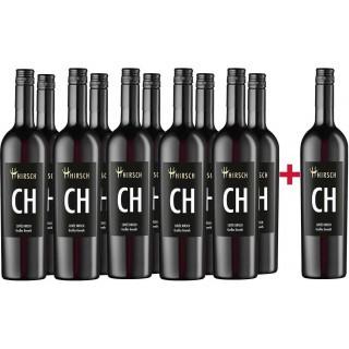 """11+1 Paket CH Cuvée Hirsch Großes Geweih trocken """"Aged Reserve"""" - Christian Hirsch"""