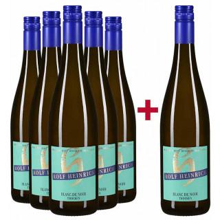 5+1 Paket 2019 Blanc de Noir Qualitätswein trocken - Weingut Rolf Heinrich