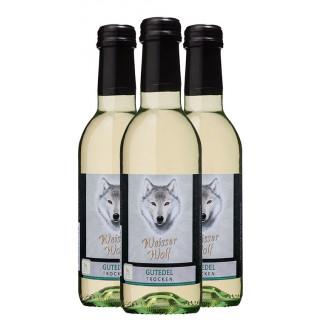"""3x 2020 Gutedel """"Weißer Wolf"""" Mini trocken 0,25 L - Winzergenossenschaft Wolfenweiler"""