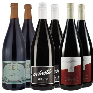 Rotwein Literwein Favoriten Paket