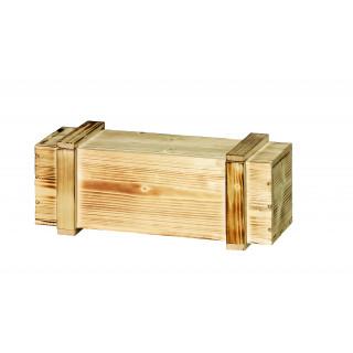 1er Holzkiste mit Schiebedeckel