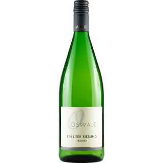 2019 Ein Liter Riesling trocken 1,0 L - Weingut Oswald