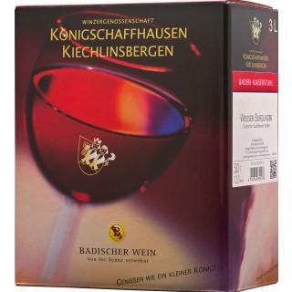 2016 Baden Weißer Burgunder Bag-In-Box Dt. QW 3L trocken Weinschlauch - Winzergenossenschaft Königschaffhausen-Kiechlinsbergen