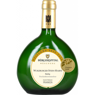 2012 Würzburger Stein-Harfe Riesling Trockenbeerenauslese VDP.GROSSE LAGE edelsüß 0,375L - Weingut Bürgerspital zum Hl. Geist Würzburg