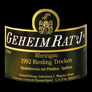 1992 Geheimrat 'J' Riesling Spätlese trocken 1,5L - Weingüter Wegeler Oestrich