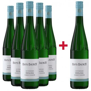 5+1 Paket Riesling feinherb - Weingut Hans Bausch
