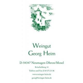 2019 Dhroner Hofberger Spätlese Riesling süss edelsüß - Weingut Georg Heim