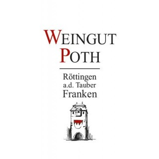 2018 Tauberrettersheimer Königin Müller-Thurgau Kabinett halbtrocken 1 L - Weingut Poth