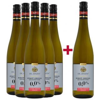 5+1 Paket Pinot Grigio alkoholfrei feinherb - Weinkellerei Einig-Zenzen