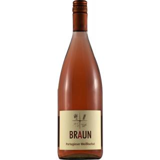 2019 Portugieser Weißherbst halbtrocken 1,0 L - Weingut Armin Braun