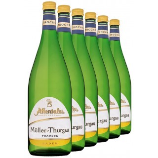 2020 Müller-Thurgau 1L QbA trocken (6 Flaschen) - Affentaler Winzer