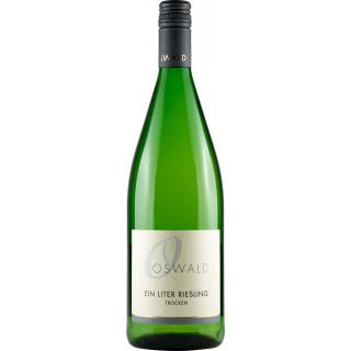 2018 Ein Liter Riesling trocken (1000 ml) - Weingut Oswald