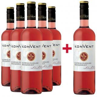 5+1 Paket Klosterhof Schwarzriesling  - Weinkonvent Dürrenzimmern eG