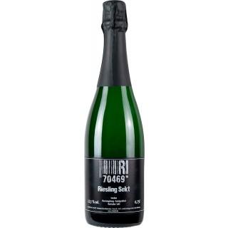 2018 Riesling Deutscher Sekt, traditionelle Flaschengärung, handgerüttelt trocken - Weingut 70469R!