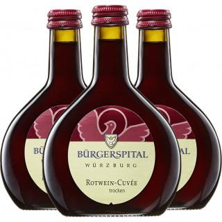 3x 2018 Bürgerspital Rotwein-Cuvée VDP.GUTSWEIN trocken 0,25L - Weingut Bürgerspital zum Hl. Geist Würzburg