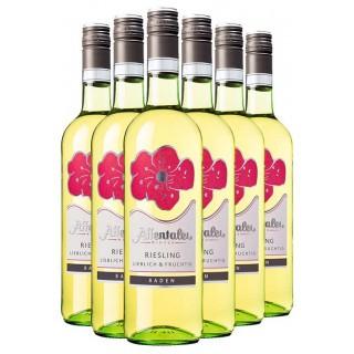 """2020 """"Blütenedition"""" Riesling QbA lieblich & fruchtig (6 Flaschen) - Affentaler Winzer"""