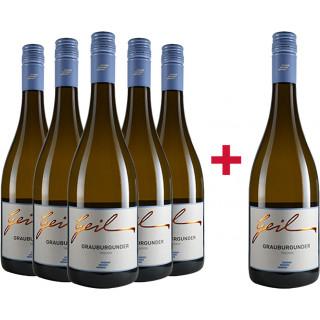 5+1 Grauburgunder trocken Paket - Weingut Helmut Geil