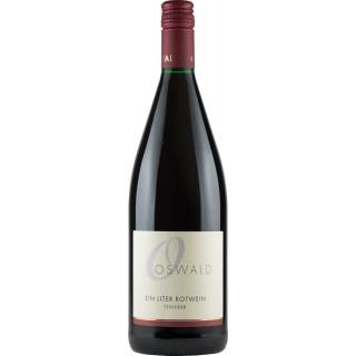 Ein Liter Rotwein feinherb 1000ml - Weingut Oswald