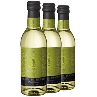 3x Junge Cuvéeschmiede Blanc de Blancs QbA 0,25L (3 Flaschen) - Felsengartenkellerei Besigheim